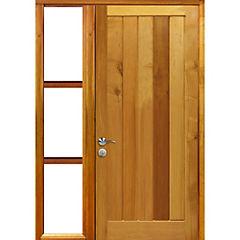 Puerta lenga 80x200 cm modelo 12 con mampara de 30x200 cm derecha