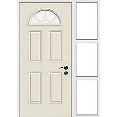 Puerta acero 80x200 cm modelo 1/2 luna com mampara 30x200 cm izquierdo