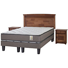 Cama Americana King Base Normal + Muebles Veneto