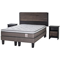 Cama Europea King Base Dividida + Muebles Karl