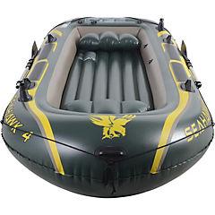 Set bote kayak plástico negro