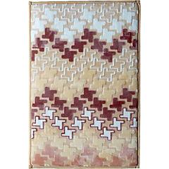 Piso para baño Tetris microfibra 40x60 cm