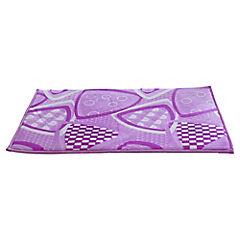 Piso para baño microfibra 40x60 cm Fucsia