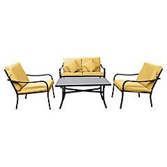 Juego living de terraza Acapulco 4 piezas amarillo