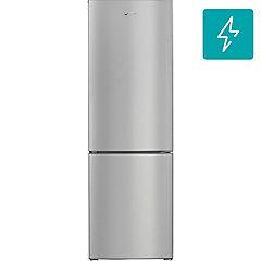 Refrigerador bottom freezer frío directo 218 litros inox