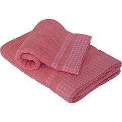 Toalla de baño Pata Gallo rosado 70x140 cm