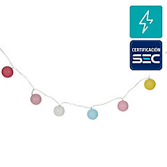Guirnalda eléctrica Led 24 luces bola rosada