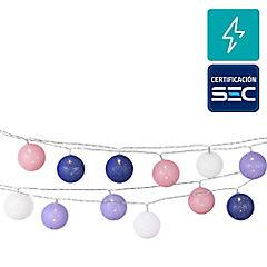 Guirnalda eléctrica led 24 luces bola azul/roja