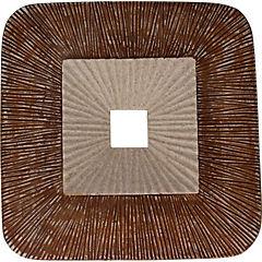 Placa muro redonda beige 35X5,5 cm