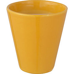 Macetero de cerámica 13x14 cm amarillo