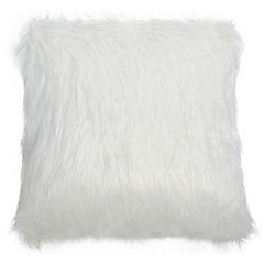 Cojín Peludo blanco 45x45 cm