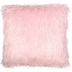 Cojín Peludo rosado 45x45 cm