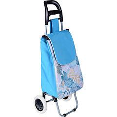 Carro de compras 95x28x35 cm poliéster Azul