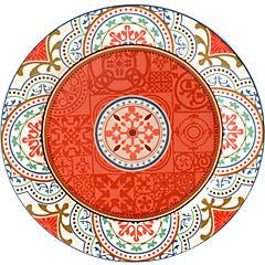 Plato fondo rojo 28 cm Portugal