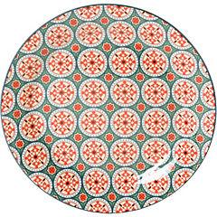 Plato ensalada rojo 22 cm Portugal