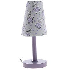 Lámpara de mesa infantil conejo 1 luz 40 W