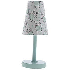 Lámpara de mesa infantil gato 1 luz 40 W