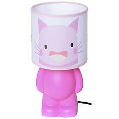 Lámpara infantil gato rosado 1 luz 40 W