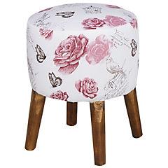 Pouff Garden s rosa 35x35x45 cm
