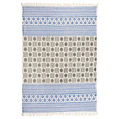 Alfom Kelim Diseño 4  1,60 x 2,30 negro/azul