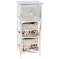 Gabinete 1 cajón 60 cm blanco