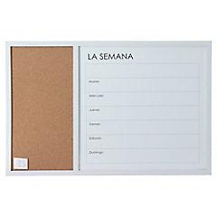 Pizarra Week marco blanco 60x40 cm