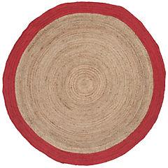 Alfombra yute Anillo rojo y natural 200 cm