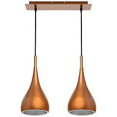 Lámpara colgante embudo 2 luces 40 W