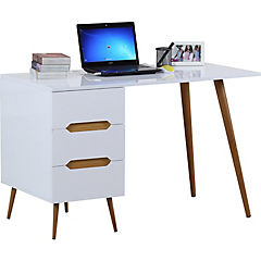 Escritorio Carolina 120x60x75 cm blanco y madera