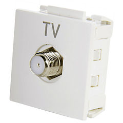 Módulo toma coaxial para TV 10 A Blanco