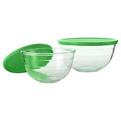 Set de bowls con tapa 2 unidades