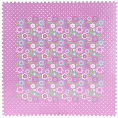 Alfombra Puzzle rosado 30x30 cm 9 piezas