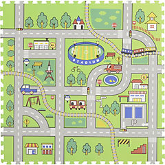 Alfombra Puzzle Pista 60x60 cm 4 piezas