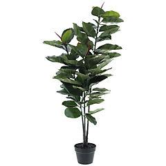 Planta decorativa artificial Ficus elástica 90 cm