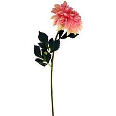 Flor dalia rosado 77 cm