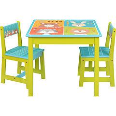 Set de mesa +  2 sillas Zoo