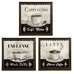 Set de 3 Cafés 30x30 cm