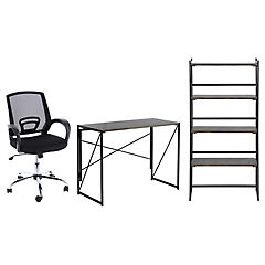 Combo escritorio, estante y silla pc