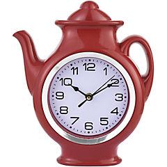 Reloj Tetera rojo