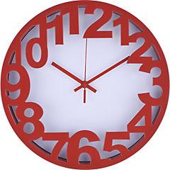 Reloj 3D Numbers rojo