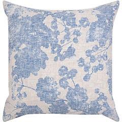 Cojín Flor azul 45x45 cm