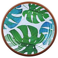 Plato Hojas Tropicales 22 cm