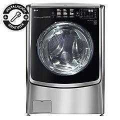 Lavadora secadora frontal 22 kg 13 kg gris