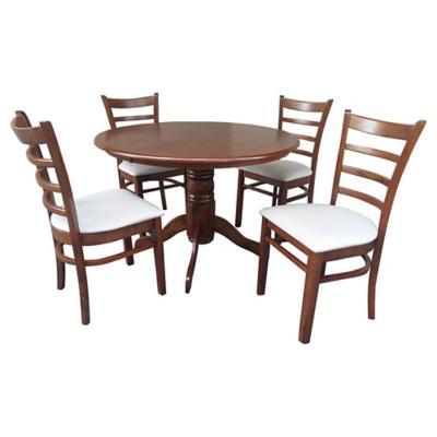 Juego de comedor 4 sillas caf for Comedor de diario sodimac