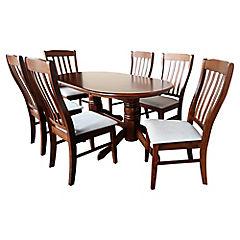 Comedor 6 sillas Turín 150x90x73,8 cm