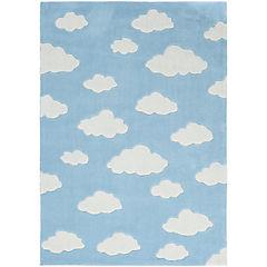 Alfombra infantil Nube celeste 120x170 cm