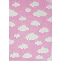 Alfombra infantil Nube rosada 120x170 cm