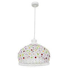 Lámpara colgante Arabe vidrio colores E27