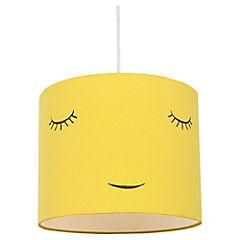 Lámpara colgante amarillo Caras E27