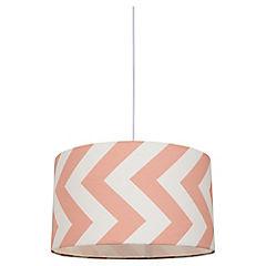 Lámpara colgante rosado Zigzag E27